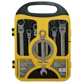 Sada kľúčov Strend Pro CSS819, 07 dielna, vidlicová, račňová s kĺbom, 8-19 mm  232397