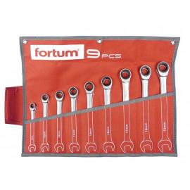 Račňové očko-vidlicové kľúče 8-19mm 9-dielna sada FORTUM 4720104