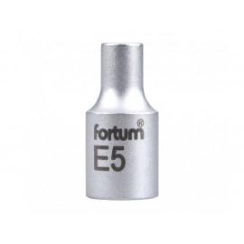"""Hlavica nástrčná 1/4"""" E5 mm FORTUM 4701705"""