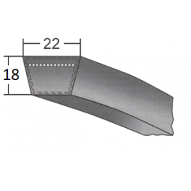 Klinový remeň SPC 4100 Lw/4130 La BANDO