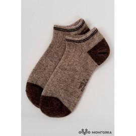 Funkčné ponožky 100% mongolská vlna hnedé, veľkosť: 35-37