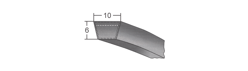 Klinové remene 10 Z10 BANDO