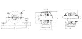 Ložiskové telesá (domce) liatinové rozoberateľné SN
