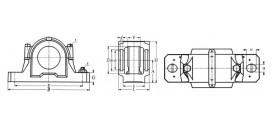 Ložiskové telesá (domce) liatinové rozoberateľné SNU/SNL